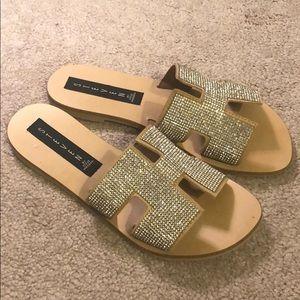 Steve Madden Glitter sandal - Never worn - size 6